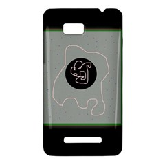 Gray abstract art HTC One SU T528W Hardshell Case