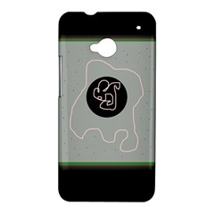 Gray abstract art HTC One M7 Hardshell Case