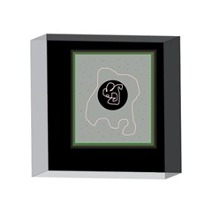 Gray abstract art 4 x 4  Acrylic Photo Blocks