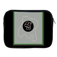 Gray abstract art Apple iPad 2/3/4 Zipper Cases