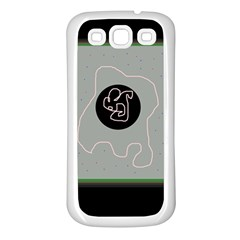 Gray abstract art Samsung Galaxy S3 Back Case (White)