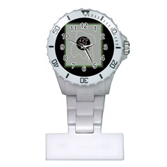 Gray abstract art Plastic Nurses Watch