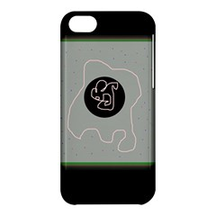 Gray abstract art Apple iPhone 5C Hardshell Case