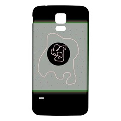 Gray abstract art Samsung Galaxy S5 Back Case (White)