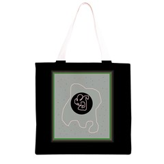 Gray abstract art Grocery Light Tote Bag