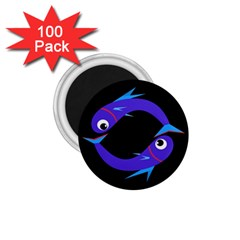 Blue fishes 1.75  Magnets (100 pack)