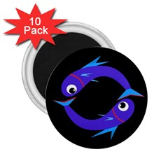 Blue fishes 2.25  Magnets (10 pack)