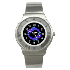 Blue fishes Stainless Steel Watch