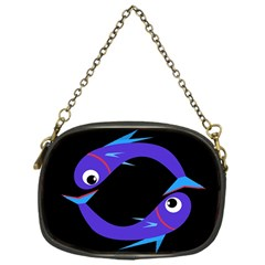 Blue fishes Chain Purses (One Side)