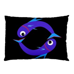 Blue fishes Pillow Case
