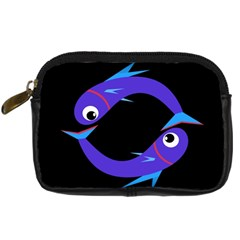 Blue fishes Digital Camera Cases