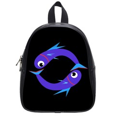Blue fishes School Bags (Small)