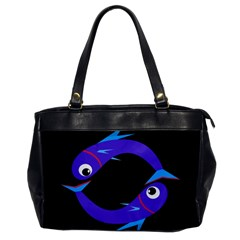 Blue fishes Office Handbags