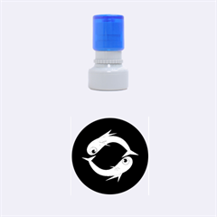 Blue fishes Rubber Round Stamps (Small)