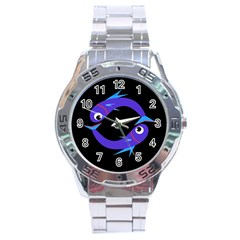 Blue fishes Stainless Steel Analogue Watch