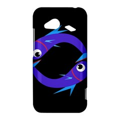 Blue fishes HTC Droid Incredible 4G LTE Hardshell Case