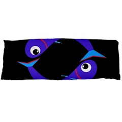 Blue fishes Body Pillow Case Dakimakura (Two Sides)