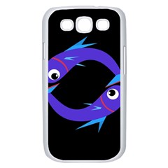 Blue fishes Samsung Galaxy S III Case (White)