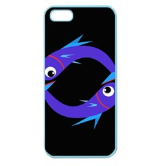 Blue fishes Apple Seamless iPhone 5 Case (Color)