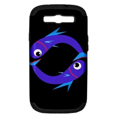 Blue fishes Samsung Galaxy S III Hardshell Case (PC+Silicone)