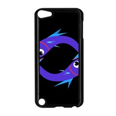 Blue fishes Apple iPod Touch 5 Case (Black)