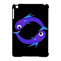 Blue fishes Apple iPad Mini Hardshell Case (Compatible with Smart Cover)