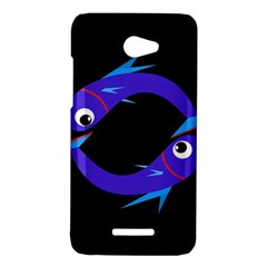 Blue fishes HTC Butterfly X920E Hardshell Case