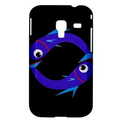 Blue fishes Samsung Galaxy Ace Plus S7500 Hardshell Case
