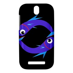 Blue fishes HTC One SV Hardshell Case