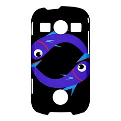 Blue fishes Samsung Galaxy S7710 Xcover 2 Hardshell Case