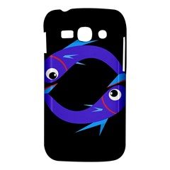 Blue fishes Samsung Galaxy Ace 3 S7272 Hardshell Case
