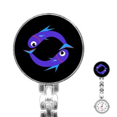 Blue fishes Stainless Steel Nurses Watch