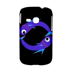 Blue fishes Samsung Galaxy S6310 Hardshell Case