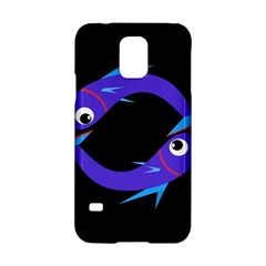 Blue fishes Samsung Galaxy S5 Hardshell Case