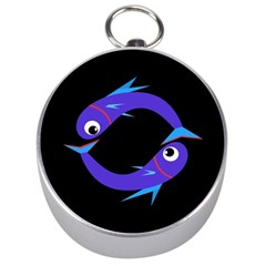 Blue fishes Silver Compasses