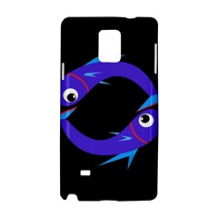 Blue fishes Samsung Galaxy Note 4 Hardshell Case
