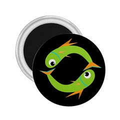 Green fishes 2.25  Magnets