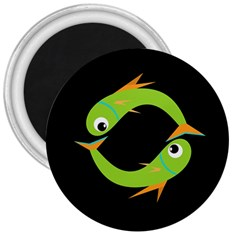 Green fishes 3  Magnets