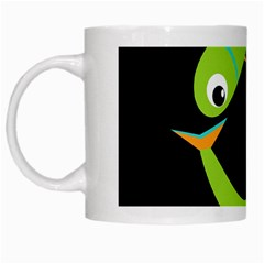 Green fishes White Mugs