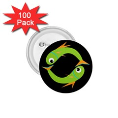 Green fishes 1.75  Buttons (100 pack)