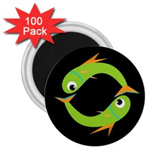 Green fishes 2.25  Magnets (100 pack)