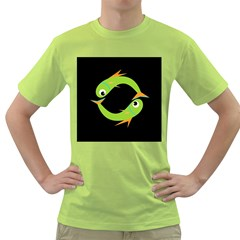 Green fishes Green T-Shirt