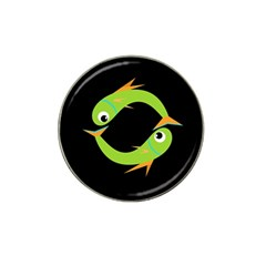 Green fishes Hat Clip Ball Marker (10 pack)