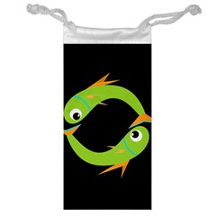 Green fishes Jewelry Bags