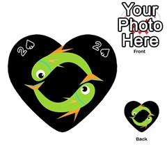 Green fishes Playing Cards 54 (Heart)