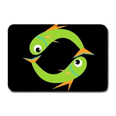 Green fishes Plate Mats