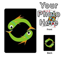 Green Fishes Multi Purpose Cards (rectangle)