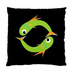 Green fishes Standard Cushion Case (One Side)