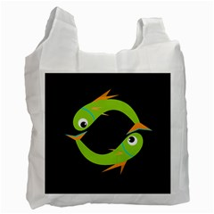 Green fishes Recycle Bag (One Side)