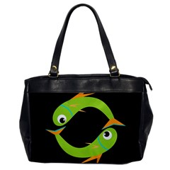 Green fishes Office Handbags
